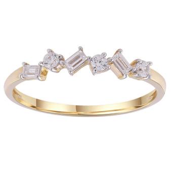 9ct Gold Baguette Diamond Rind