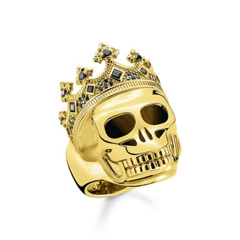Gold Skull King Ring