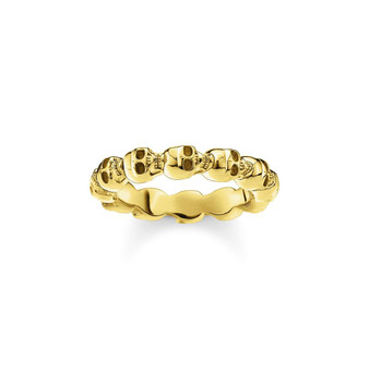 Gold Skull Band Ring