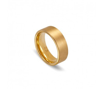 Tungsten Brushed Gold RIng