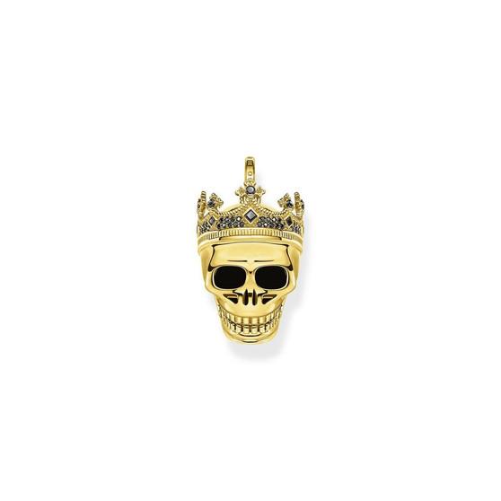Skull Crown Pendant Gold