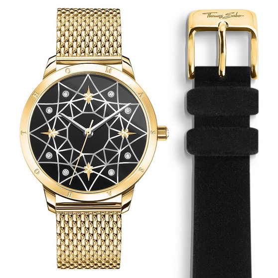 Cosmos Black and Yellow Watch
