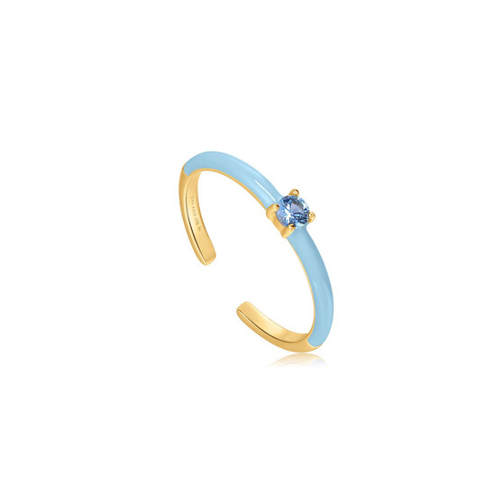 Powder Blue Enamel Ring