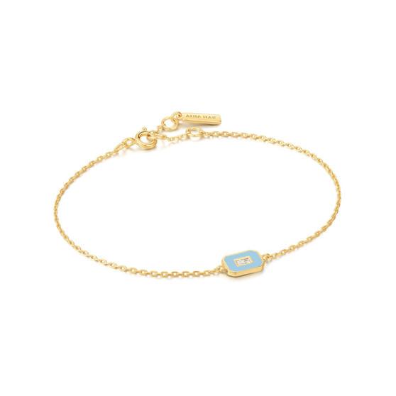 Blue Enamel Bracelet