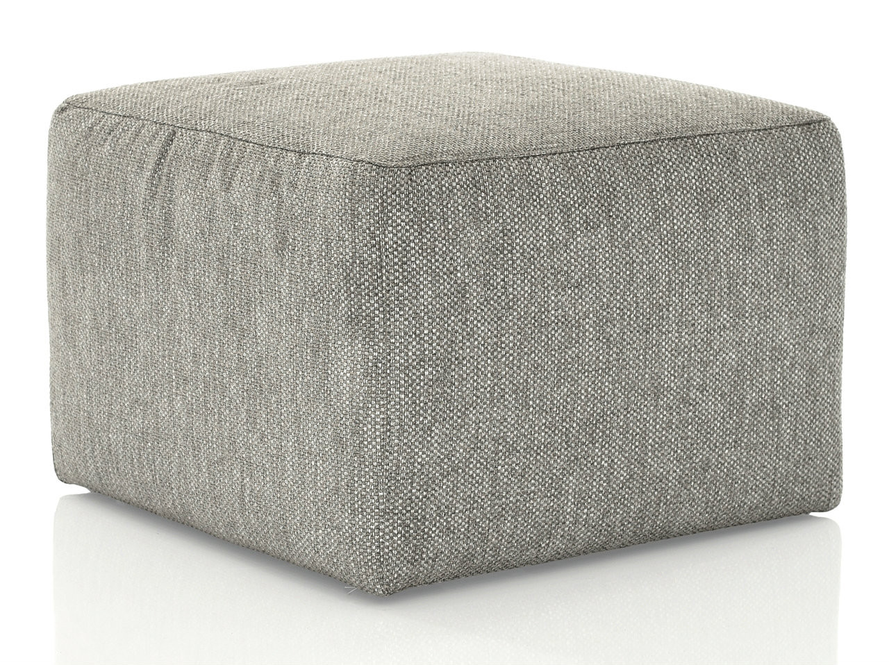 Awesome Bracque Square Ottoman Grey Fabric Short Links Chair Design For Home Short Linksinfo