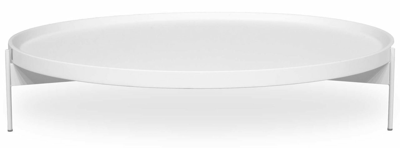 ABACO LOW COCKTAIL TABLE   WHITE