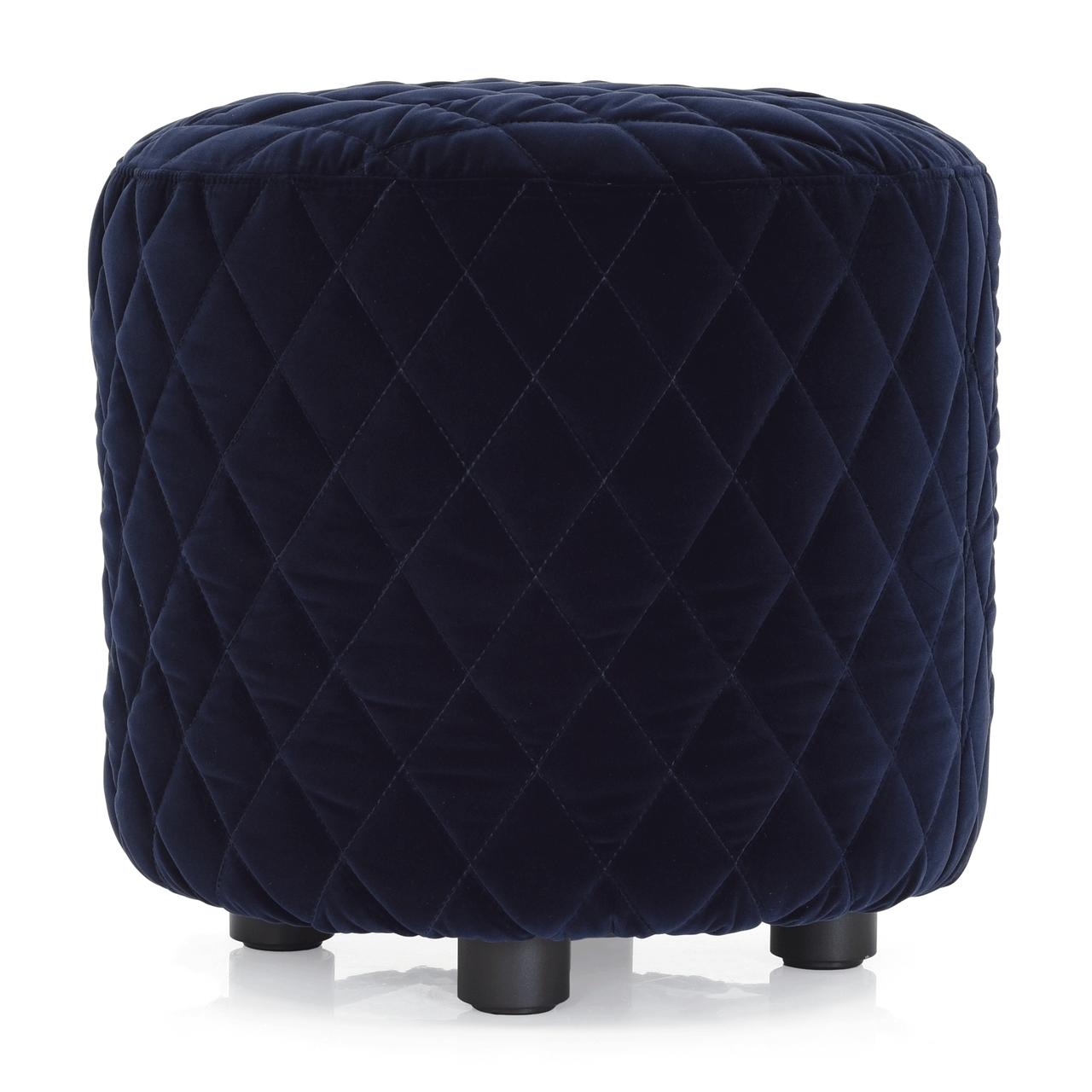 Melpot Quilted Ottoman Dark Blue Fabric Cantoni Cantoni