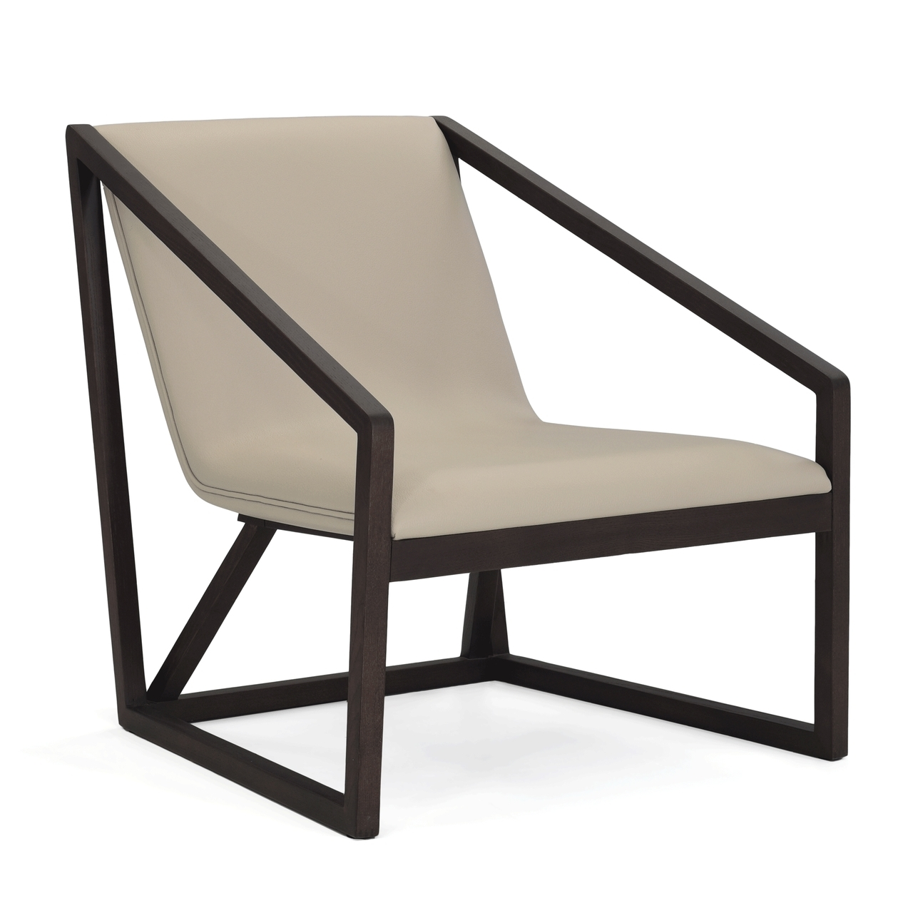 Sala wood frame lounge chair