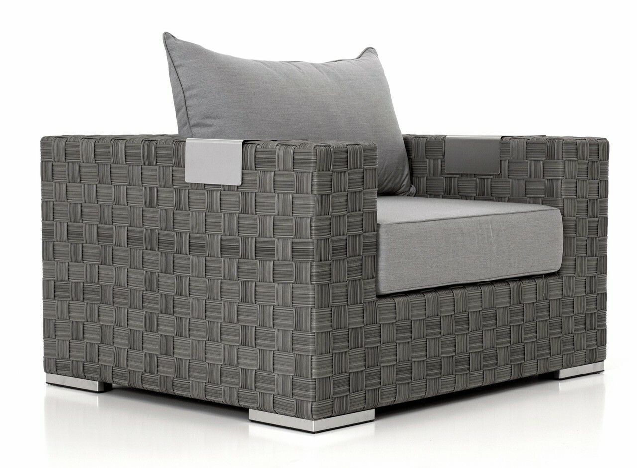 Freeport lounge chair wide charcoal weave