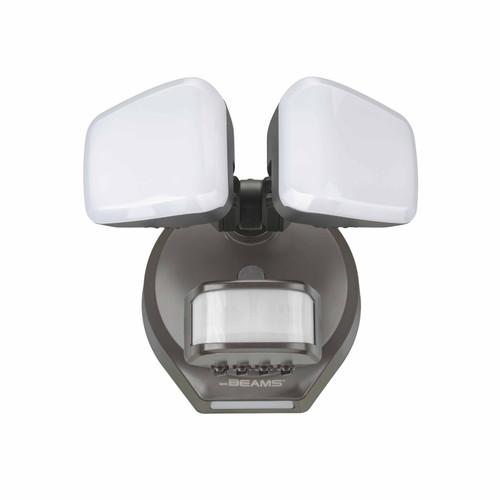 Pro 2-Head Motion Security Light with Cascading Wall Wash