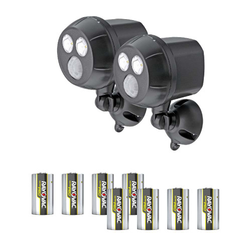 Mr Beams® UltraBright LED Wireless Motion Sensor Spotlight with Batteries, Set of 2