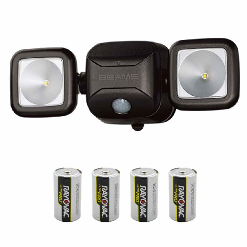 Mr Beams® Limited Edition High Performance LED Security Light with Batteries MB3100 (Black)