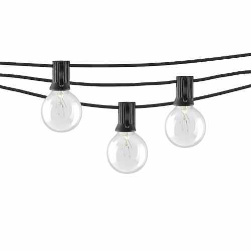 Incandescent Indoor/Outdoor String Lights with G40 Bulbs