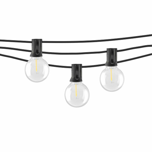 LED Indoor/Outdoor String Lights with G40 Bulbs