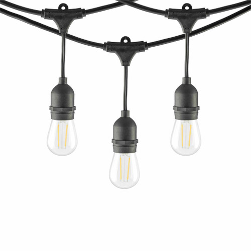 LED Outdoor String Lights with S14 Bulbs