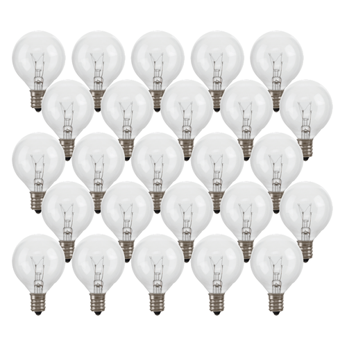 Incandescent G40 String Light Replacement Bulbs (25)