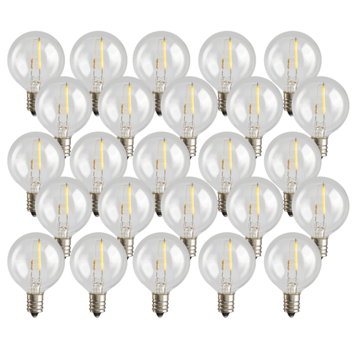 LED G40 String Light Replacement Bulbs (25)