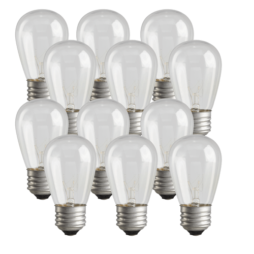 Incandescent S14 String Light Replacement Bulbs (12)