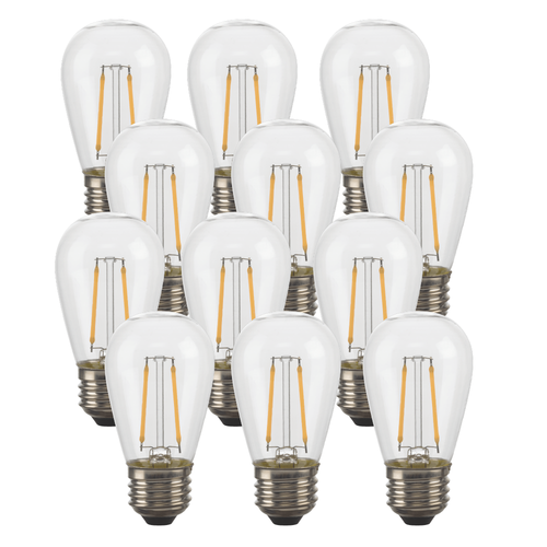 LED S14 String Light Replacement Bulbs (12)