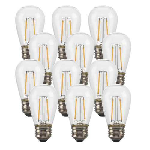Solar LED S14 String Light Replacement Bulbs (12)