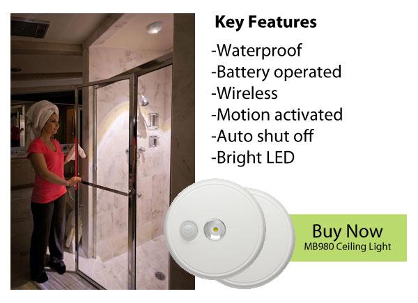 Bright Wireless Shower Lights The Best Way To Light A Dark Shower Mr Beams Lights