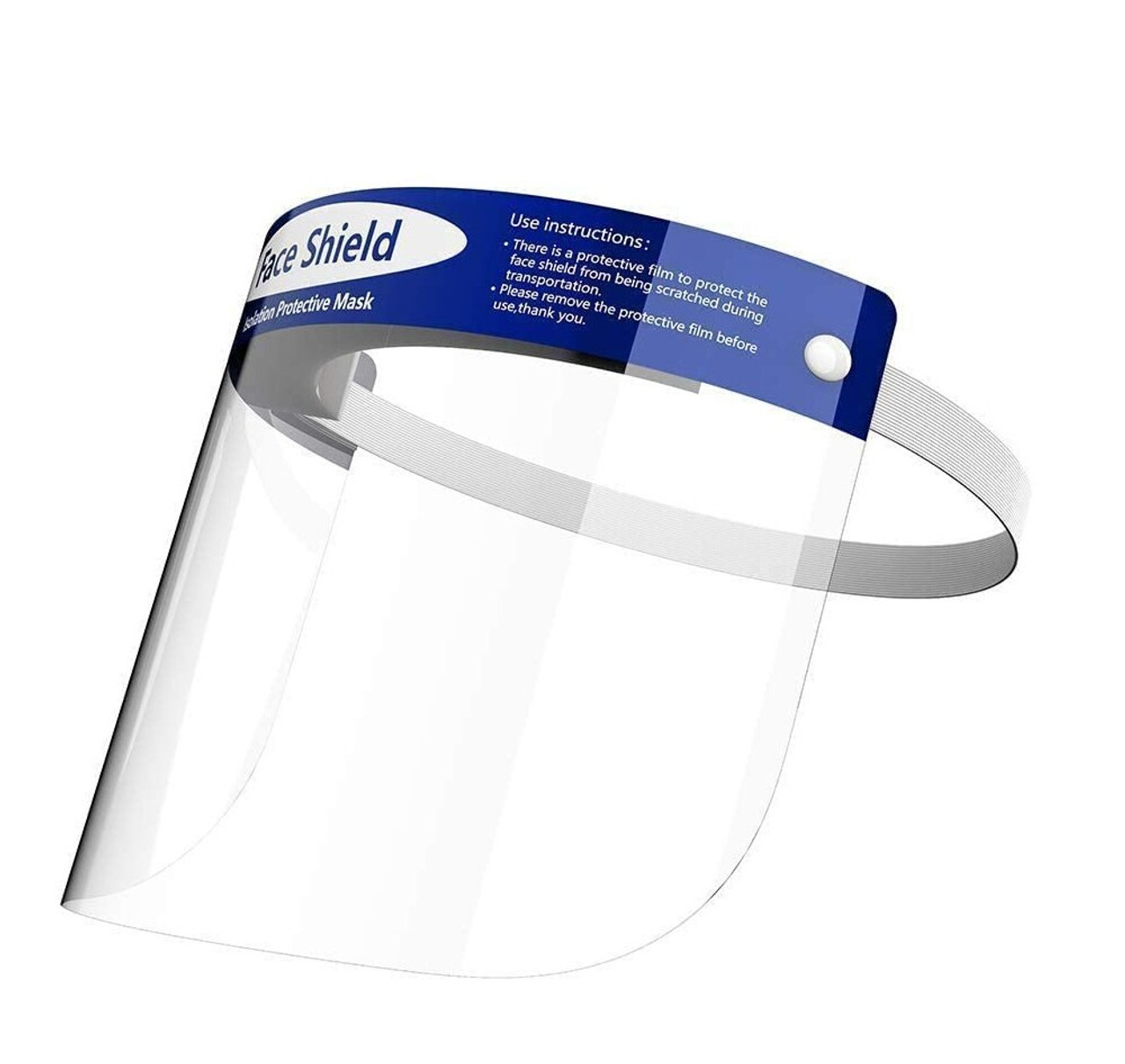 Safety Face Shield With Adjustable Elastic strip