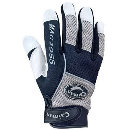 Caiman® White Goatskin Leather Mechanics Gloves