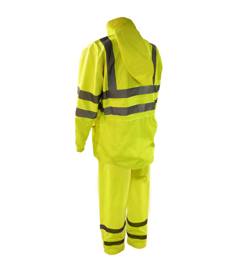 Class 3 Hi-Vis Rainsuits - 2 Piece Back