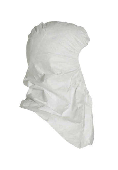 Tyvek® White Disposable Hoods with Elastic Face for Head and Face Protection TY657 - Case of 100 Side