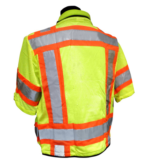 Heavy Duty Hi-Vis Class 3 Surveyor Safety Vests Back