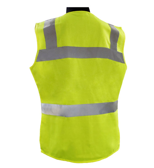 ERB Class 2 Hi-Vis Lime Green Safety Vest Back