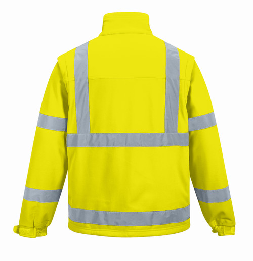 Hi-Vis Softshell Jacket - Hi-Vis Yellow Back