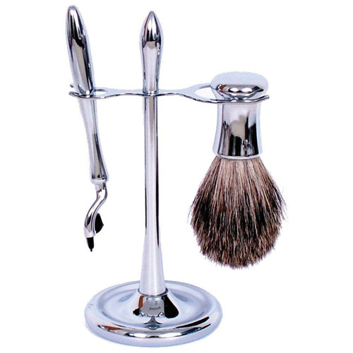 3030 Mach 3 Shave Set Chrome w/Badger