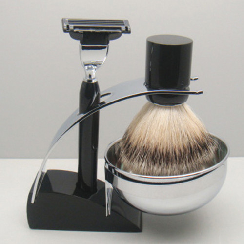 3083 Mach 3 Shave Set Black Badger
