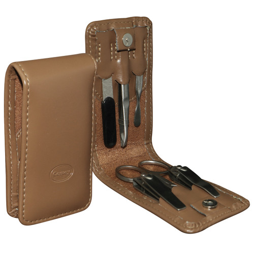 Small 6pc Fold Manicure Set Tan