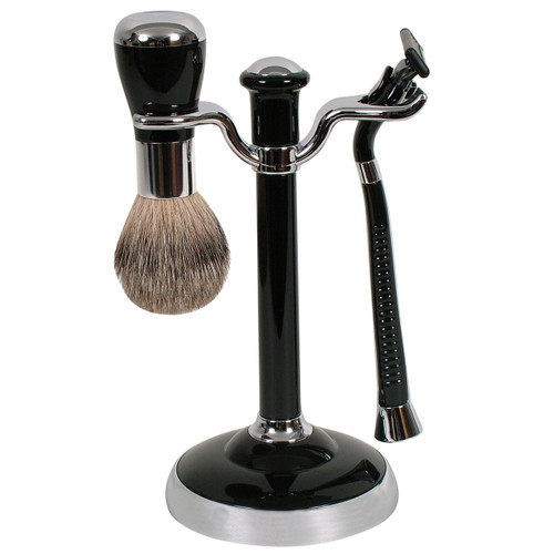 WG Shave Set Mach 3 Black/Chrome