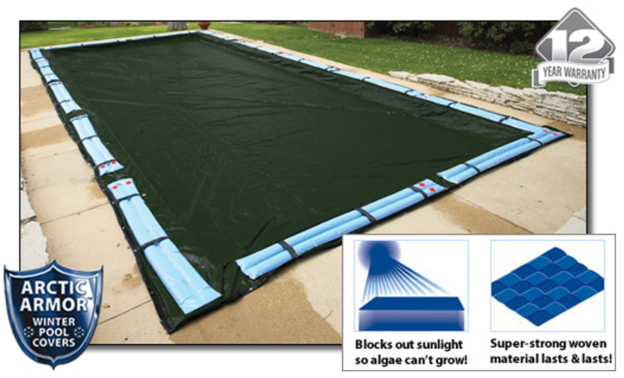 Arctic Armor WC852 20/' x 40/' Rectangle In-Ground Winter Pool Cover 12 YR WRTY