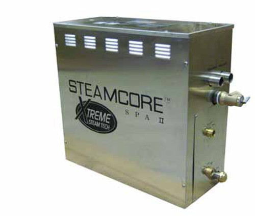 SaunaCore KWS4.5 SS 4500 Watts Single Phase SPA II Series Steam Bath Generator 18.7 Amps