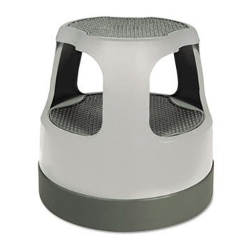 Cramer Industries Inc. 50011PK82 Scooter Stool Round 15'' Step & Lock Wheels to 300lb Gray