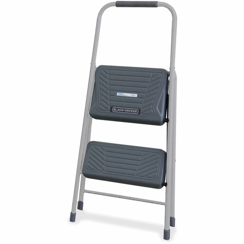 Louisville DADBXL436002 2 ft. Black & Decker Steel Step Stool Gray