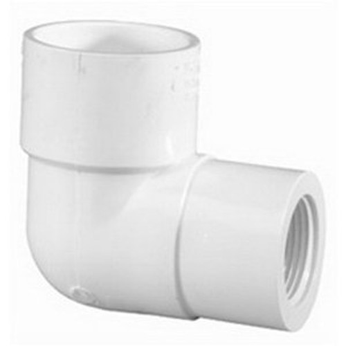 Lasco Fittings PV407101 0.75 in. x 0.5 in. Socket x FPT 90 Elbow Reducing Schedule 40
