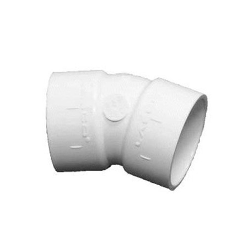 Lasco Fittings PV465060 6 in. Socket 22.5 Degree Elbow Schedule 40
