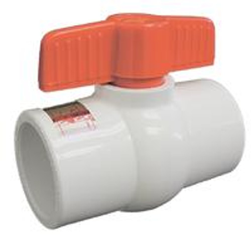 American Granby HMIP150S 1.5 in. Socket Molded-in-Place Ball Valve PVC non-Stick - White