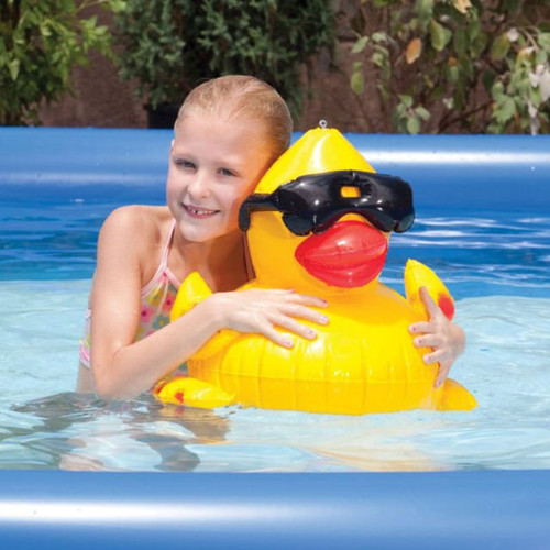 Games GAM5001 Inflatable Derby Duck Pool Toy Yellow