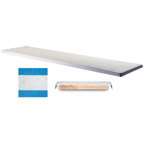 Inter-Fab TB6BW Techni-Spring 6 Ft. Techni-Beam Blue Diving Board With White Top Tread