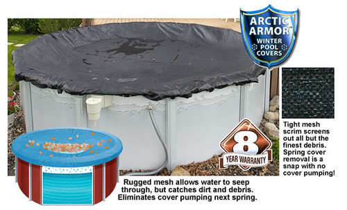Arctic Armor WC638 18'x34' Oval Above Ground Mesh Winter Cover
