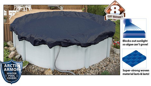 Arctic Armor WC708-4 8 Year 24' Round Above Ground Swimming Pool Winter Covers