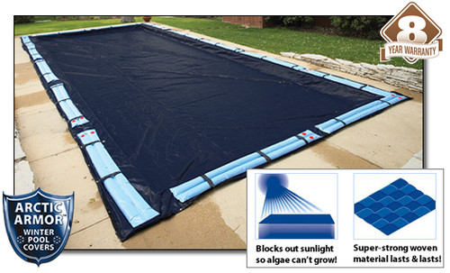 Arctic Armor WC738 8 Year 12'x20' Rectangle In Ground Swimming Pool Winter Covers
