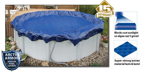 Arctic Armor WC926-4 15 Year 16' x 28' Oval Above Ground Swimming Pool Winter Covers