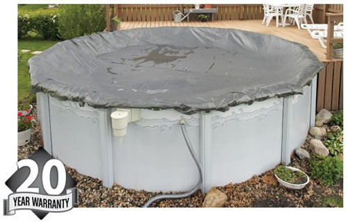 Arctic Armor WC9805 20 Year 24' Round Above Ground Swimming Pool Winter Covers